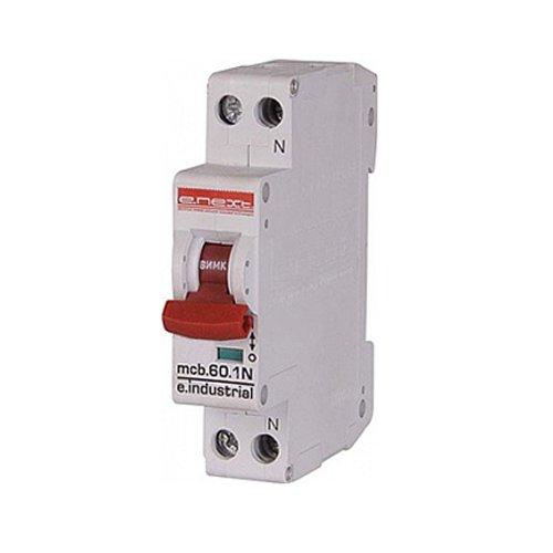 Фото Двухполюсный автоматический выключатель, 1р+N, 25А, C, 10кА, e.industrial.mcb.60.1N.C25.thin Электробаза