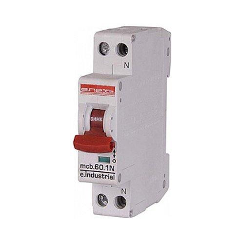 Фото Двухполюсный автоматический выключатель, 1р+N, 32А, C, 10кА, e.industrial.mcb.60.1N.C32.thin Электробаза