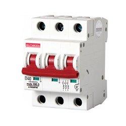 Трёхполюсный автоматический выключатель, 3р, 40А, D, 10кА, e.industrial.mcb.100.3.D.40