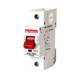 Однополюсный автоматический выключатель, 1р, 125А, D, 15kA, e.industrial.mcb.150.1.D125
