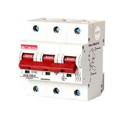 Трёхполюсный автоматический выключатель, 3р, 100А, D, 15kA, e.industrial.mcb.150.3.D100