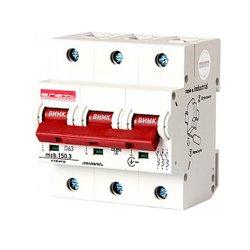 Трёхполюсный автоматический выключатель, 3р, 63А, D, 15kA, e.industrial.mcb.150.3.D63