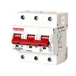 Трёхполюсный автоматический выключатель, 3р, 80А, D, 15kA, e.industrial.mcb.150.3.D80