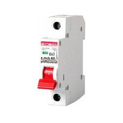 Однополюсный автоматический выключатель 1р, 63А, В, 6кА, new, e.mcb.pro.60.1.B 63 new