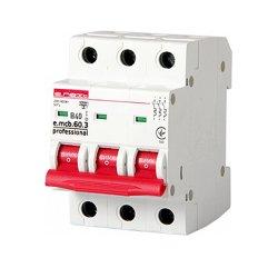 Трёхфазный автоматический выключатель 3р, 40А, В, 6кА, new, e.mcb.pro.60.3.B 40 new