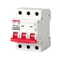 Трёхфазный автоматический выключатель 3р, 50А, В, 6кА, new, e.mcb.pro.60.3.B 50 new