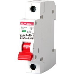 Однополюсный автоматический выключатель 1р, 20А, C, 6кА new, e.mcb.pro.60.1.C 20 new
