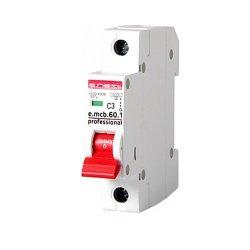 Однополюсный автоматический выключатель 1р, 3А, C, 6кА new, e.mcb.pro.60.1.C 3 new