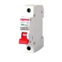 Однополюсный автоматический выключатель 1р, 40А, C, 6кА new, e.mcb.pro.60.1.C 40 new