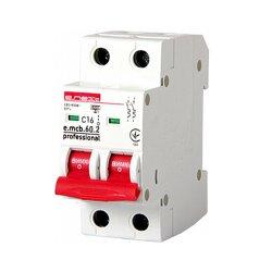 Двухполюсный автоматический выключатель 2р, 16А, C, 6кА new, e.mcb.pro.60.2.C 16 new