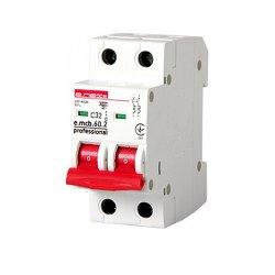 Двухполюсный автоматический выключатель 2р, 32А, C, 6кА new, e.mcb.pro.60.2.C 32 new