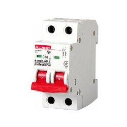 Двухполюсный автоматический выключатель 2р, 40А, C, 6кА new, e.mcb.pro.60.2.C 40 new