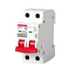 Двухполюсный автоматический выключатель 2р, 63А, C, 6кА new, e.mcb.pro.60.2.C 63 new