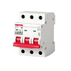 Трёхфазный автоматический выключатель 3р, 2А, C, 6кА new, e.mcb.pro.60.3.C 2 new