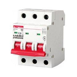 Трёхфазный автоматический выключатель 3р, 20А, C, 6кА new, e.mcb.pro.60.3.C 20 new