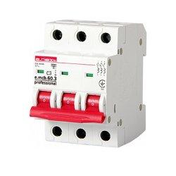 Трёхфазный автоматический выключатель 3р, 3А, C, 6кА new, e.mcb.pro.60.3.C 3 new