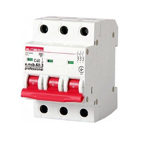 Фото Трёхфазный автоматический выключатель 3р, 40А, C, 6кА new, e.mcb.pro.60.3.C 40 new Электробаза