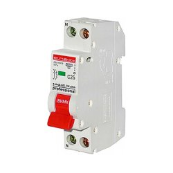 Модульный автоматический выключатель 1р+N, 25А, C, 4,5кА, тонкий, e.mcb.pro.60.1N.С25.thin