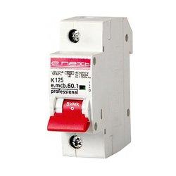 Однополюсный автоматический выключатель 1р, 125А, K, 6кА new, e.mcb.pro.60.1.K 125 new