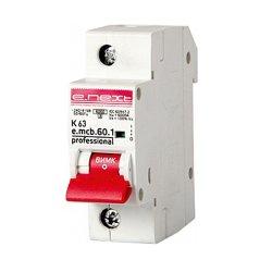 Однополюсный автоматический выключатель 1р, 63А, K, 6кА new, e.mcb.pro.60.1.K 63 new