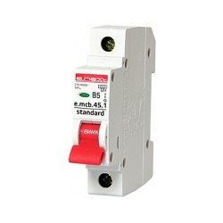 Однополюсный автоматический выключатель 1р, 5А, В, 4.5 кА, e.mcb.stand.45.1.B5