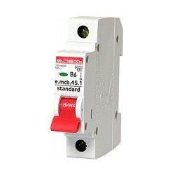 Однополюсный автоматический выключатель 1р, 6А, В, 4.5 кА, e.mcb.stand.45.1.B6