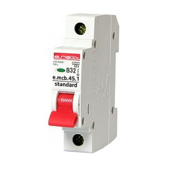 Однополюсный автоматический выключатель 1р, 32А, В, 4.5 кА, e.mcb.stand.45.1.B32
