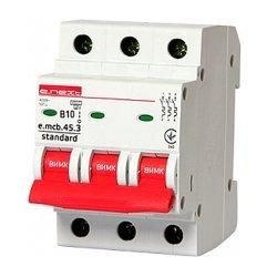 Трёхфазный автоматический выключатель 3р, 10А, В, 4.5 кА, e.mcb.stand.45.3.B10