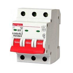 Трёхфазный автоматический выключатель 3р, 32А, В, 4.5 кА, e.mcb.stand.45.3.B32