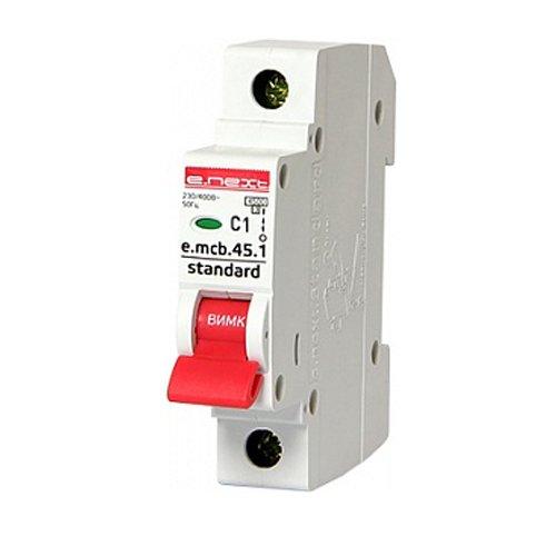 Фото Однополюсный автоматический выключатель 1р, 1А, C, 3,0 кА, e.mcb.stand.45.1.C1 Электробаза