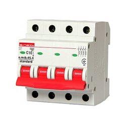 Модульный автоматический выключатель 4р, 10А, C, 4.5 кА, e.mcb.stand.45.4.C10