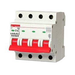 Модульный автоматический выключатель 4р, 16А, C, 4.5 кА, e.mcb.stand.45.4.C16