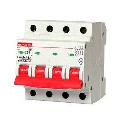 Модульный автоматический выключатель 4р, 25А, C, 4.5 кА, e.mcb.stand.45.4.C25