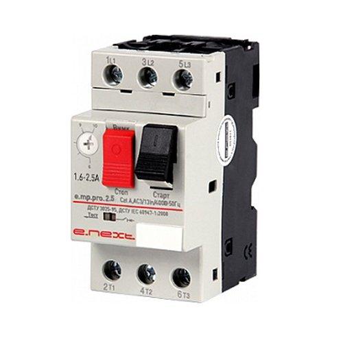 Фото Автоматический выключатель защиты двигателя, 1.6-2.5А, e.mp.pro.2.5 Электробаза