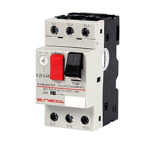 Фото Автоматический выключатель защиты двигателя 0.25-0.4А e.mp.pro.0.4 Электробаза