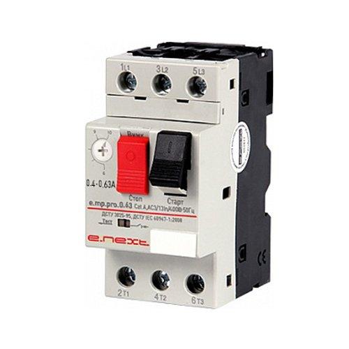 Фото Автоматический выключатель защиты двигателя 0.4-0.63А e.mp.pro.0.63 Электробаза