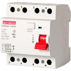 Выключатель дифференциального тока, 4р, 40А, 30мА e.rccb.pro.4.40.30