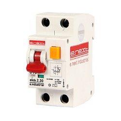 Дифферинциальный автоматический выключатель 2р, 10А, С, 30мА e.industrial.elcb.2.C10.30