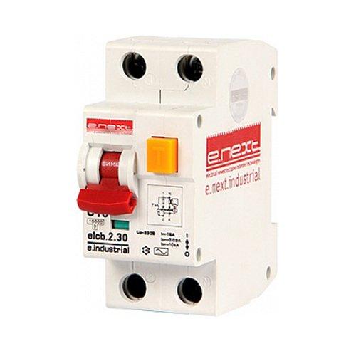 Фото Дифферинциальный автоматический выключатель 2р, 10А, С, 30мА e.industrial.elcb.2.C10.30 Электробаза