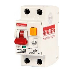 Дифферинциальный автоматический выключатель 2р, 10А, С, 300мА e.industrial.elcb.2.C10.300
