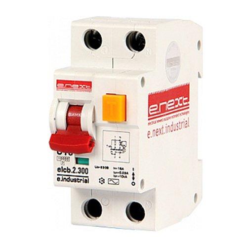 Фото Дифферинциальный автоматический выключатель 2р, 10А, С, 300мА e.industrial.elcb.2.C10.300 Электробаза