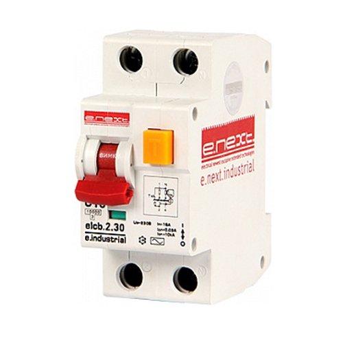 Фото Дифферинциальный автоматический выключатель 2р, 16А, З, 30мА e.industrial.elcb.2.C16.30 Электробаза