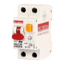 Дифферинциальный автоматический выключатель 2р, 16А, С, 300мА e.industrial.elcb.2.C16.300