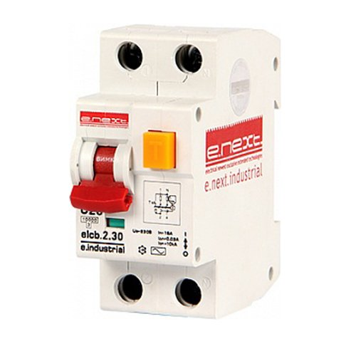 Фото Дифферинциальный автоматический выключатель 2р, 20А, С, 30мА e.industrial.elcb.2.C20.30 Электробаза