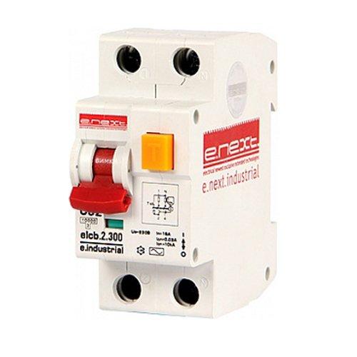 Фото Дифферинциальный автоматический выключатель 2р, 32А, С, 300мА e.industrial.elcb.2.C32.300 Электробаза