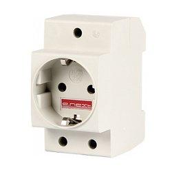 Розетка на DIN-рейку, 230 В, L+N+PE, e.socket.pro.din.tms