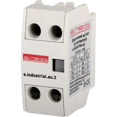 Фото Дополнительный контакт к контакторам e.industrial.au.2.11, 1no+1nc Электробаза