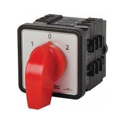 Пакетный переключатель, щитовой, с передней панелью, 4p, 0-1-2, 63А, LK63/4.322-ZP/45