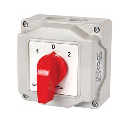 Фото Пакетный переключатель, в корпусе, 3p, 1-0-2, 16А, IP44, LK16/3.323-ОВ/45 Электробаза