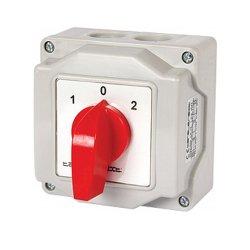 Пакетный переключатель, в корпусе, 2p, 0-1, 25А, IP44, LK25/2.211-ОВ/45